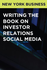 Writing the Book on Investor Relations Social Media