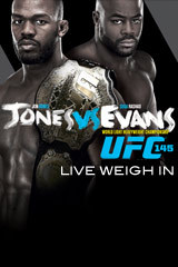 UFC 145 JONES vs EVANS - Weigh In