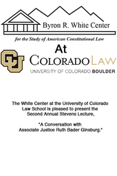 Justice Ruth Bader Ginsburg - Live @ CU