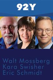 Walt Mossberg, Kara Swisher and Eric Schmidt