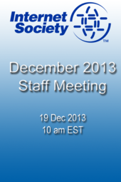 December 2013 Staff Meeting