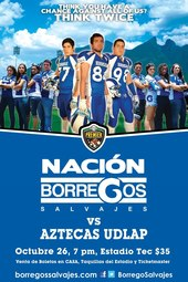 Borregos Salvajes vs vs UDLA.