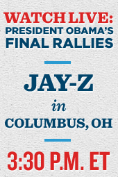 President Obama and Jay-Z in Columbus, Ohio