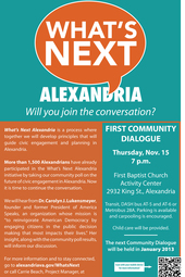 What's Next, Alexandria? A Community Dialogue