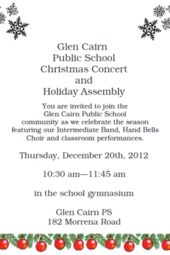 GCPS Christmas Concert and Holiday Assembly