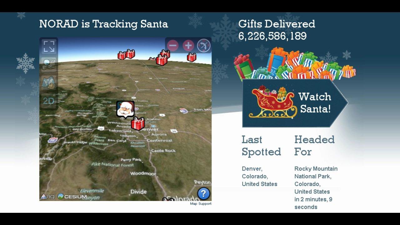 NORAD Tracks Santa 2012 on Livestream