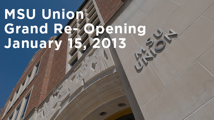 livestream cover image for MSU Union Grand Re-Opening