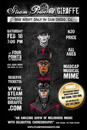 Steam Powered Giraffe in San Diego