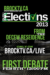Elections Debate 2013 #1 Live from DeCew