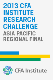 2013 CFA Institute Research Challenge Asia Pacific Regional Final