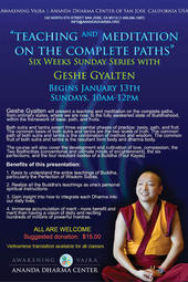 Teaching and Meditation on the Complete Paths - Day 5