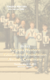 2012-13 Virginia Western Educational Foundation Awards Ceremony