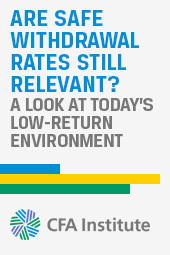 Michael E. Kitces: Are Safe Withdrawal Rates Still Relevant in Today's Low-Return Environment?