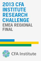 2013 CFA Institute Research Challenge EMEA Regional Final