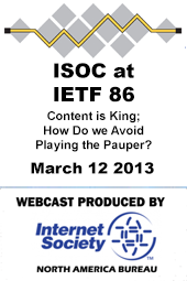 ISOC at IETF: Content is King; How Do we Avoid Playing the Pauper?
