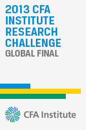 2013 CFA Institute Research Challenge Global Final