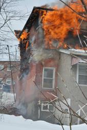 Fire on Elizabeth St.