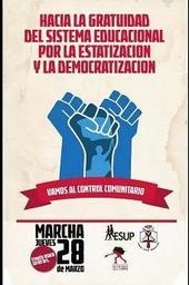 #yomarchoel28 por Educación de calidad y gratuita como deber Estado