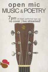 Open Mic @ Streaming Cafe 7pm PST