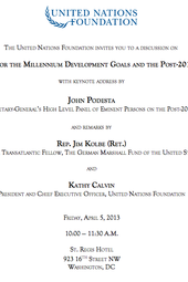 Priorities for the Millennium Development Goals and the Post-2015 Agenda