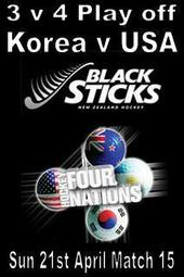Four Nations Match 15 - 3 v 4 Play off - Korea v USA