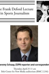 ESPN anchor Jeremy Schaap presents Frank Deford Lecture