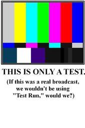 Test Run - Technology Checks