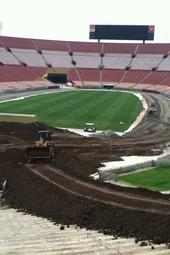 LA Coliseum Track Build