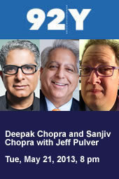 Deepak Chopra and Sanjiv Chopra with Jeff Pulver