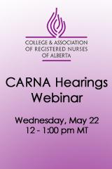 CARNA Hearings Webinar