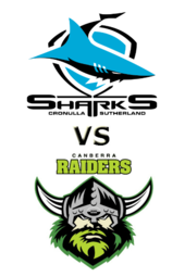 Sharks vs. Raiders
