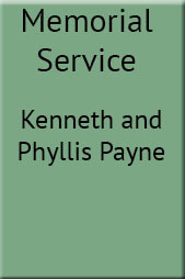 Memorial Service for Kenneth and Phyllis