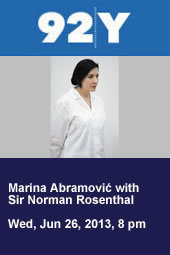 Marina Abramović with Sir Norman Rosenthal