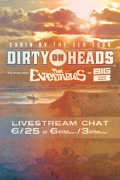 Cabin By The Sea Tour with Dirty Heads, The Expendables, and Big B