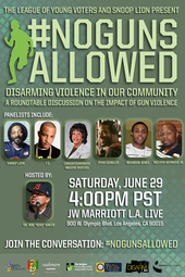 "Http://bet.com/ngalive ""No Guns Allowed: Disarming Violence In Our Community"" Roundtable"