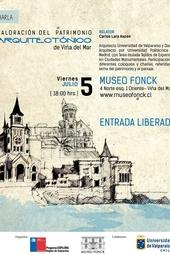 """Charla """"Valoración del patrimonio arquitectónico de Viña del Mar"""""""
