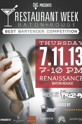 DIG Magazine & Barmetrix's Best Bartender of Restaurant Week powered & streamed live by Launch Media