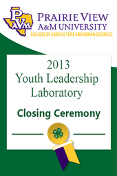2013 Youth Leadership Laboratory Closing Ceremony