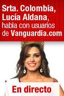 Señorita Colombia, Lucía Aldana, habla con los usuarios de Vanguardia.com