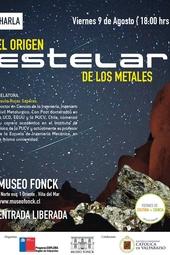 """Charla """"El origen estelar de los metales"""""""