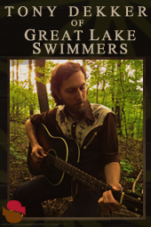 Tony Dekker of Great Lake Swimmers with Leif Vollebekekk live at Streaming Cafe