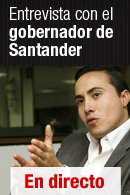 Entrevista con el gobernador de Santander