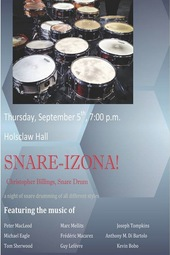 "Christopher Billings Recital ""Snare-izona"