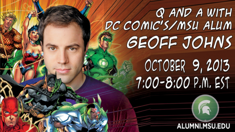 livestream cover image for Q and A with DC Comics Geoff Johns