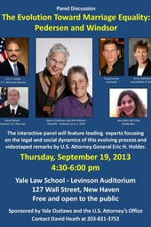 The Evolution of Marriage Equality - Panel Discussion at Yale Law School