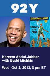 Kareem Abdul-Jabbar with Budd Mishkin