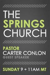 Guest Speaker: Pastor Carter Conlon