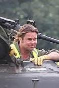 Brad Pitt Tank Training