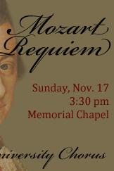 Colgate University Chorus – Mozart's Requiem (K.626)