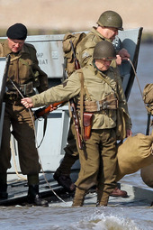 Monuments Men filming on Camber Sands